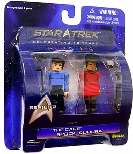 Star Trek Original Series Diamond Select Toys Series 2 Minimates 2-Pack Spock & Uhura