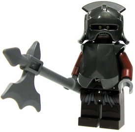 LEGO Lord of the Rings LOOSE Mini Figure Uruk-hai Heavy Infantry [Helmet, Breastplate, Halberd]