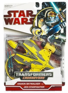 Star Wars 2009 Transformers Anakin Skywalker to Jedi Delta-7 Starfighter