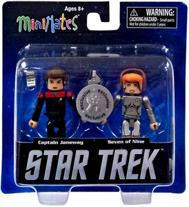 Star Trek Legacy Minimates Series 1 Exclusive Mini Figure 2-Pack Janeway & Seven of Nine