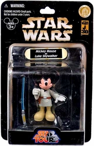 Star Wars Disney World 30th Anniversary Star Tours Action Figure Mickey Mouse as Luke Skywalker