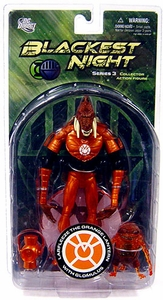 DC Direct Green Lantern Blackest Night Series 3 Action Figure Larfleeze the Orange Lantern with Glomulus