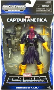 Captain America Marvel Legends Action Figure Soldiers of A.I.M. {Baron Zemo} [Build Mandroid Piece!] BLOWOUT SALE!