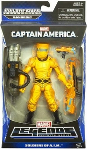 Captain America Marvel Legends Action Figure Soldiers of A.I.M. {Yellow Suit} [Build Mandroid Piece!]