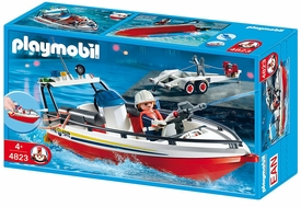 Playmobil Rescue Set #4823 Fire Boat With Trailer