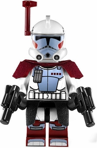 LEGO Star Wars LOOSE Mini Figure Clone Wars ARC Trooper with Cloth Kama & Pauldron and Twin Blaster Pistols
