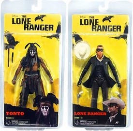 NECA Lone Ranger Movie Series 1 Set of Both Action Figures [Lone Ranger & Tonto] BLOWOUT SALE!