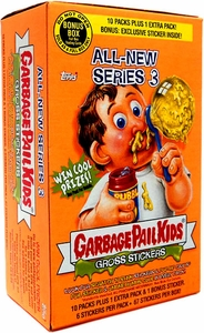 Topps Garbage Pail Kids All-New Series 3 Gross Stickers Bonus Box
