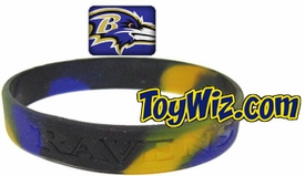 Official National Football League NFL Team Rubber Bracelet Baltimore Ravens Marble Color