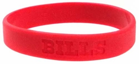 Official National Football League NFL Team Rubber Bracelet Buffalo Bills [Red]