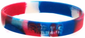 Official National Football League NFL Team Rubber Bracelet Buffalo Bills [Marble Color]