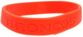 Official National Football League NFL Team Rubber Bracelet Denver Broncos [Orange]