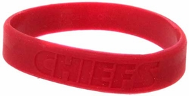 Official National Football League NFL Team Rubber Bracelet Kansas City Chiefs [Red]
