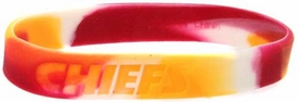 Official National Football League NFL Team Rubber Bracelet Kansas City Chiefs [Marble Color]