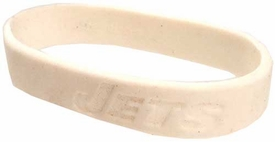 Official National Football League NFL Team Rubber Bracelet New York Jets [White]