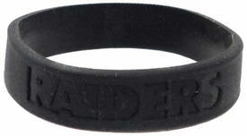 Official National Football League NFL Team Rubber Bracelet Oakland Raiders [Black]