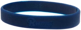Official National Football League NFL Team Rubber Bracelet St. Louis Rams Millenium [Blue]