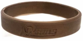 Official National Football League NFL Team Rubber Bracelet St. Louis Rams [New Century Gold]