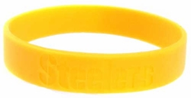 Official National Football League NFL Team Rubber Bracelet Pittsburgh Steelers [Gold]