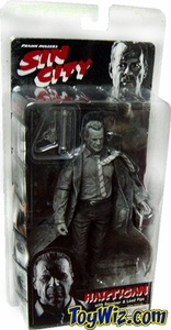 NECA Sin City Movie Series 1 Action Figure John Hartigan (Bruce Willis) [Black & White]
