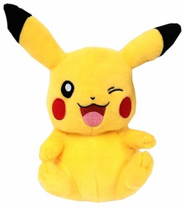 Pokemon TOMY 8 Inch Basic Plush Pikachu [Sitting Winking]