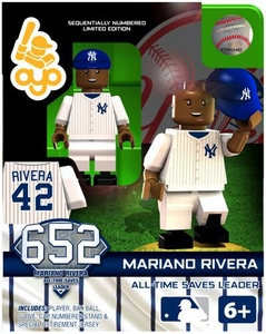OYO Baseball MLB Generation 2 Building Brick Minifigure Mariano Rivera [New York Yankees] All-Time Saves Leader