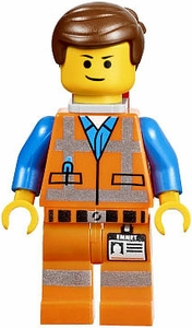 LEGO The Movie LOOSE Minifigure Emmet with Piece of Resistance [Smile]