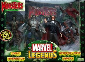 Marvel Legends Action Figure Boxed Gift Set Monsters (Zombie, Frankenstein, Werewolf & Dracula)