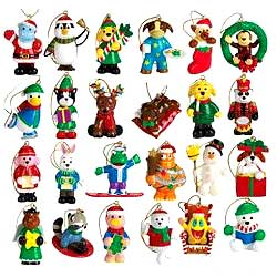 Webkinz Exclusive Holiday Ornaments Set of 24 Mini PVC Figure Ornaments