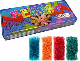 Official Rainbow Loom Starter Kit & 4x Random Color 600 Ct. Rubber Band Refill Pack [Includes 100 C-Clips!]