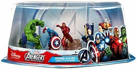 Disney Marvel Avengers Assemble Exclusive 5-Piece PVC Figurine Playset [Hulk, Captain America, Iron Man, Thor & Hawkeye] New!