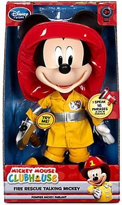 Disney Exclusive Mickey Mouse Clubhouse 13 Inch Fire Rescue Talking Mickey
