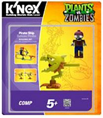Plants Vs. Zombies K'NEX Set Pirate Ship Pre-Order ships August