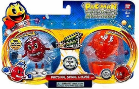 Pac-Man Bandai Pac-Panic Battle Spinners 2-Pack Pac's Pal Spiral & Clyde