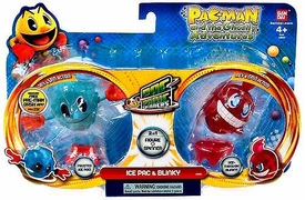 Pac-Man Bandai Pac-Panic Battle Spinners 2-Pack Ice Pac & Blinky
