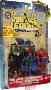 Justice League Unlimited Series 5 Action Figure 3-Pack Green Lantern, Martian Manhunter & Orion