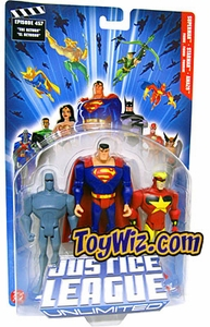 Justice League Unlimited Series 2 Action Figure 3-Pack Superman, Starman & Amazo