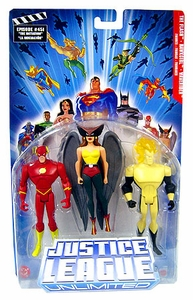 Justice League Unlimited Series 4 Action Figure 3-Pack Hawkgirl, Flash & Waverider