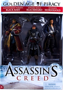 McFarlane Toys Assassin's Creed Golden Age of Piracy Action Figure 3-Pack [Black Bart, Blackbeard & Benjamin Hornigold]