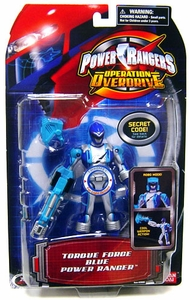 Power Rangers Operation Overdrive Action Figure Torque Force Blue Power Ranger