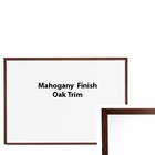 Oak Trim Mahogany Finish Porcelain Steel Markerboard 4'H X 12'W