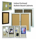 Indoor Enclosed Bulletin Board Cabinets