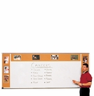 Combination Porcelain Steel Marker and Bulletin Boards