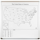 Graphic Boards-USA map 4'H x 4'W