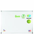 Green-Rite Markerboard with Deluxe Aluminum Trim 2'H x 3'W - No Map Rail