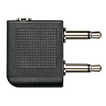 Two-Prong Stereo Airplane Adapter Plug