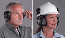 Hard Hat and Neckband Ear Muffs