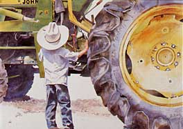Linda Loeschen - Big Wheel Big Deal - Western Print