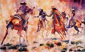 Linda Loeschen - Box Canyon Ambush - Limited Edition