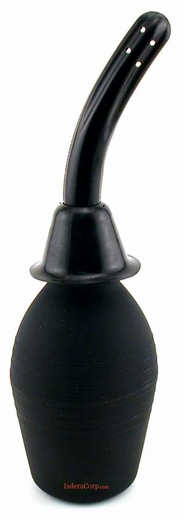 A Large Black Enema Syringe w/ Flexible Tip